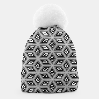 Thumbnail image of Silver and Black Diamond Cubes Pattern Beanie, Live Heroes