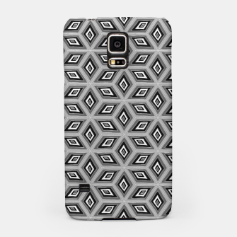 Thumbnail image of Silver and Black Diamond Cubes Pattern Samsung Case, Live Heroes