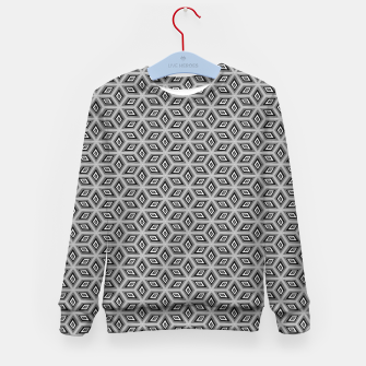 Thumbnail image of Silver and Black Diamond Cubes Pattern Kid's sweater, Live Heroes
