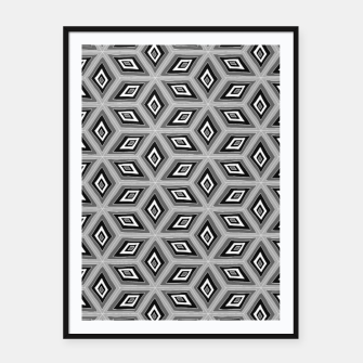 Miniature de image de Silver and Black Diamond Cubes Pattern Framed poster, Live Heroes