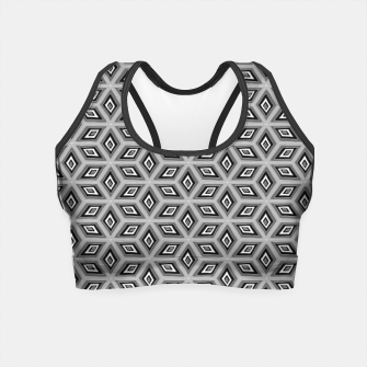 Imagen en miniatura de Silver and Black Diamond Cubes Pattern Crop Top, Live Heroes