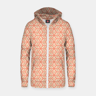 Thumbnail image of Living Coral Diamond Cubes Pattern Zip up hoodie, Live Heroes