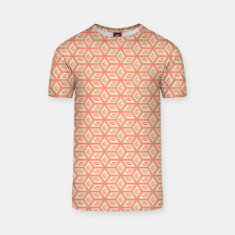Thumbnail image of Living Coral Diamond Cubes Pattern T-shirt, Live Heroes