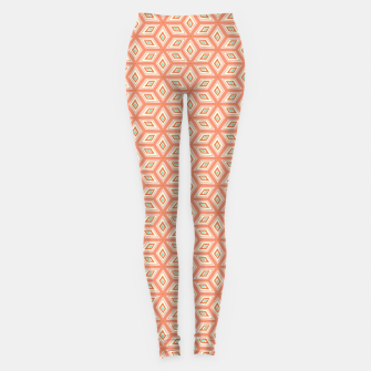 Thumbnail image of Living Coral Diamond Cubes Pattern Leggings, Live Heroes