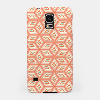 Thumbnail image of Living Coral Diamond Cubes Pattern Samsung Case, Live Heroes
