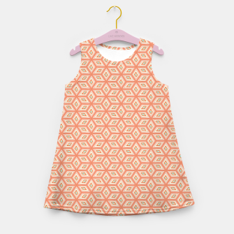 Thumbnail image of Living Coral Diamond Cubes Pattern Girl's summer dress, Live Heroes