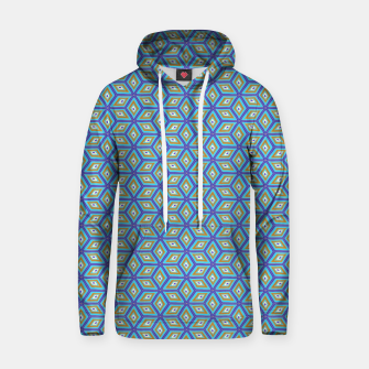 Thumbnail image of Blue and Gold Diamond Cubes Pattern Hoodie, Live Heroes