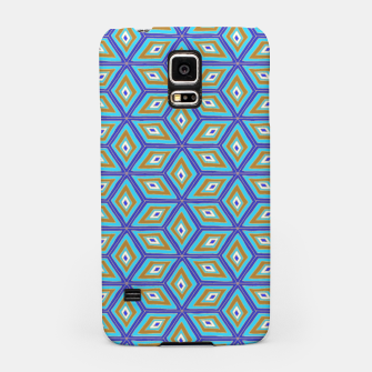 Thumbnail image of Blue and Gold Diamond Cubes Pattern Samsung Case, Live Heroes
