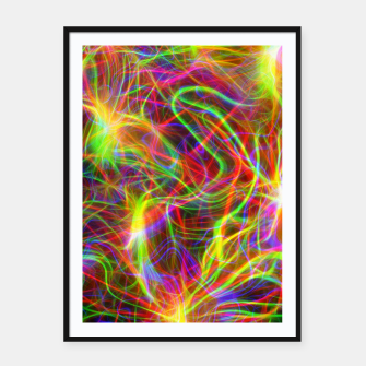 Thumbnail image of Psychedelic Framed poster, Live Heroes