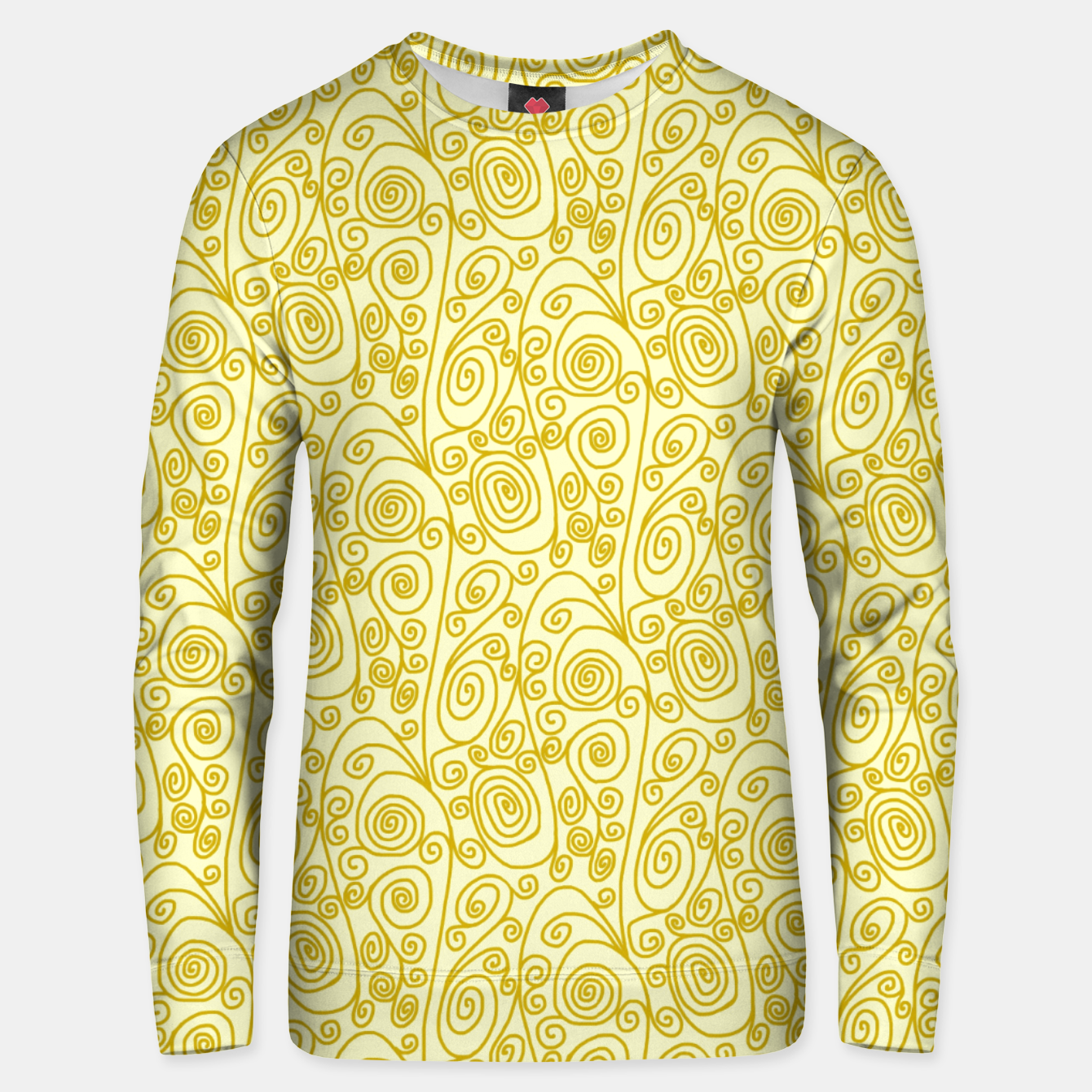 Image of Golden Curls on Yellow Doodle Art  Unisex sweater - Live Heroes