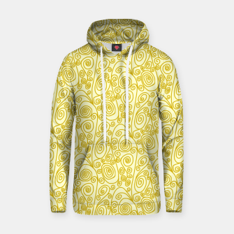 Golden Curls on Yellow Doodle Art  Hoodie thumbnail image