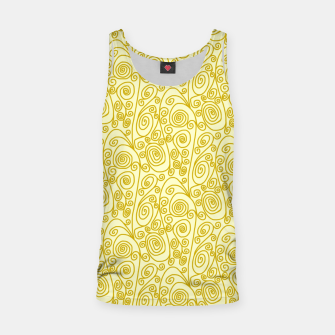 Golden Curls on Yellow Doodle Art  Tank Top thumbnail image
