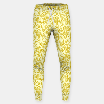 Golden Curls on Yellow Doodle Art  Sweatpants thumbnail image