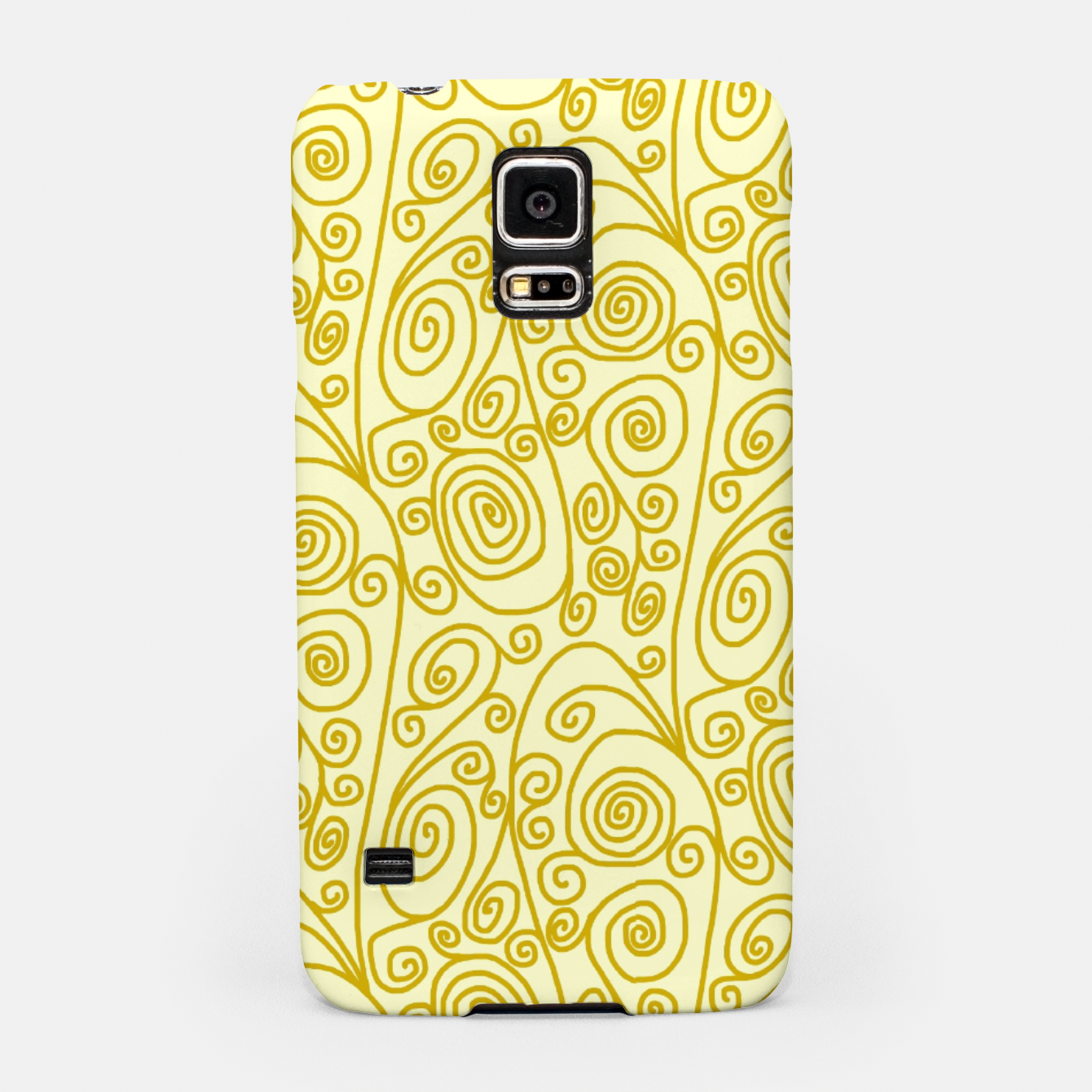 Image of Golden Curls on Yellow Doodle Art  Samsung Case - Live Heroes