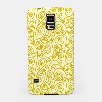Thumbnail image of Golden Curls on Yellow Doodle Art  Samsung Case, Live Heroes