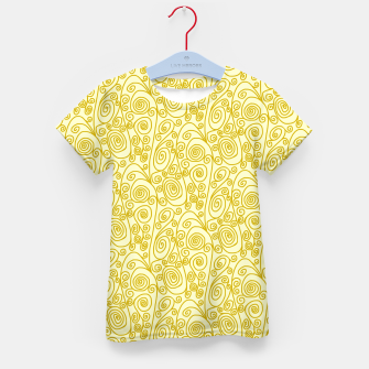 Golden Curls on Yellow Doodle Art  Kid's t-shirt thumbnail image