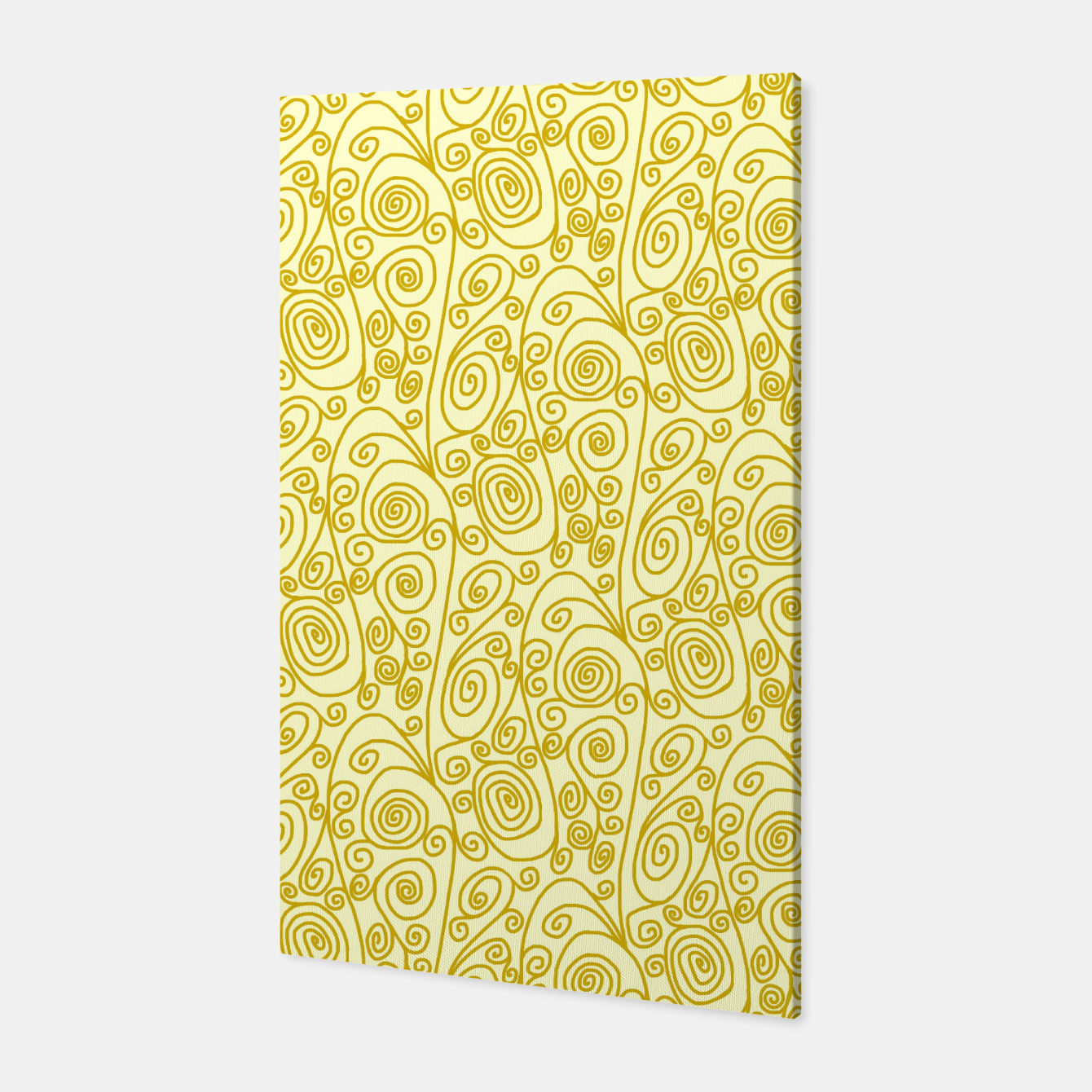 Image of Golden Curls on Yellow Doodle Art  Canvas - Live Heroes