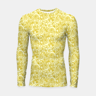 Thumbnail image of Golden Curls on Yellow Doodle Art  Longsleeve rashguard , Live Heroes