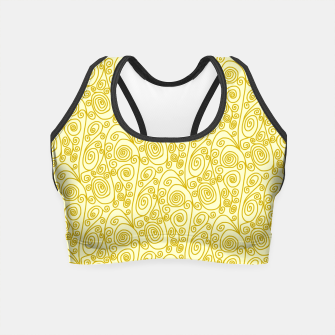 Imagen en miniatura de Golden Curls on Yellow Doodle Art  Crop Top, Live Heroes