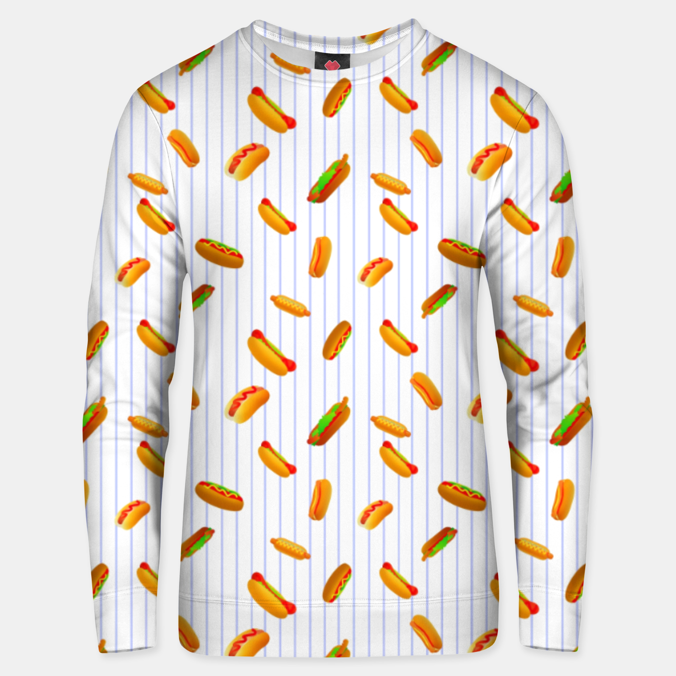 Image of Hot Dogs Pattern  Unisex sweater - Live Heroes