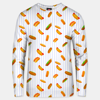Thumbnail image of Hot Dogs Pattern  Unisex sweater, Live Heroes