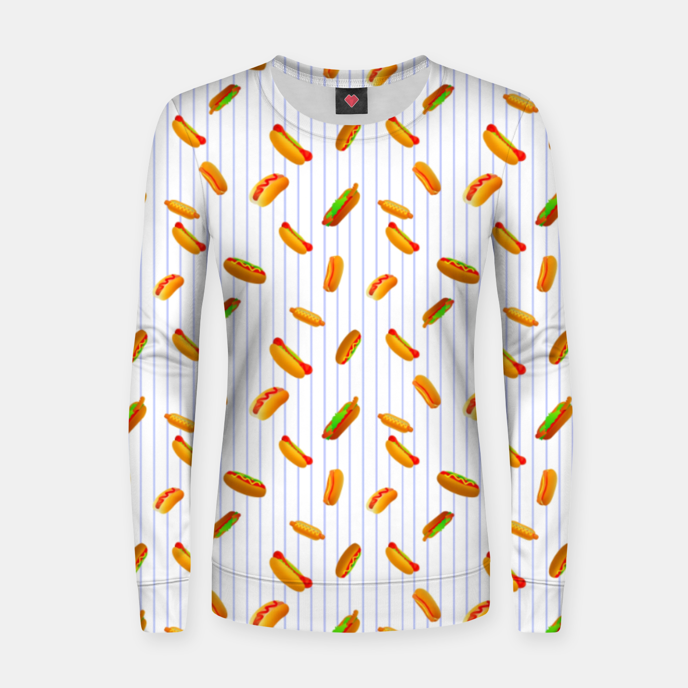 Image of Hot Dogs Pattern  Women sweater - Live Heroes