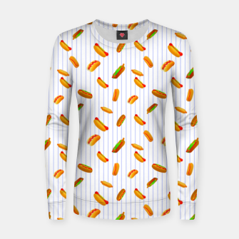 Thumbnail image of Hot Dogs Pattern  Women sweater, Live Heroes