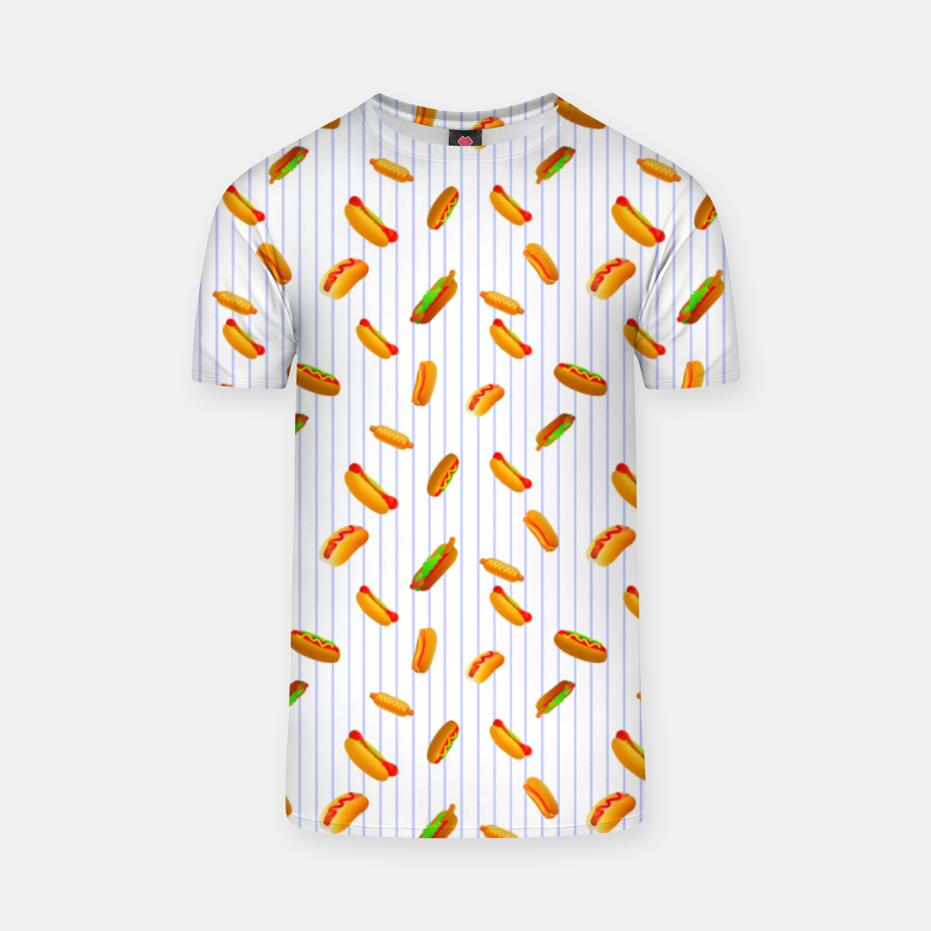 Image of Hot Dogs Pattern  T-shirt - Live Heroes