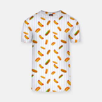 Thumbnail image of Hot Dogs Pattern  T-shirt, Live Heroes