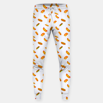 Thumbnail image of Hot Dogs Pattern  Sweatpants, Live Heroes