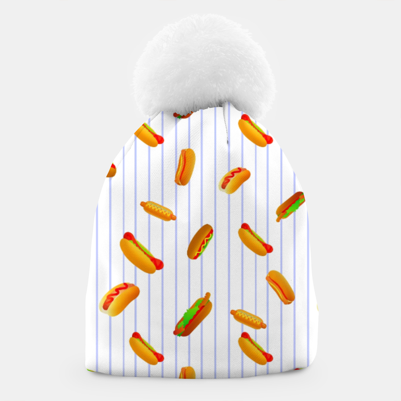 Image of Hot Dogs Pattern  Beanie - Live Heroes