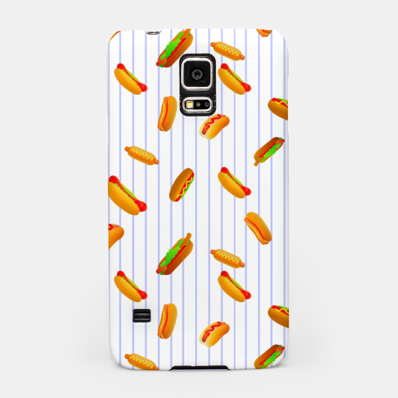 Image of Hot Dogs Pattern  Samsung Case - Live Heroes