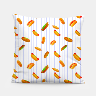 Thumbnail image of Hot Dogs Pattern  Pillow, Live Heroes