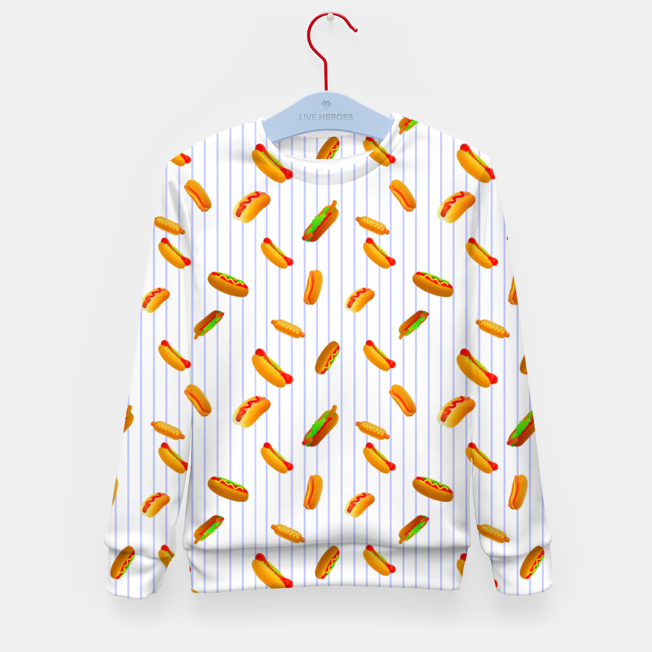 Image of Hot Dogs Pattern  Kid's sweater - Live Heroes