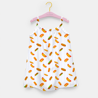 Hot Dogs Pattern  Girl's dress thumbnail image