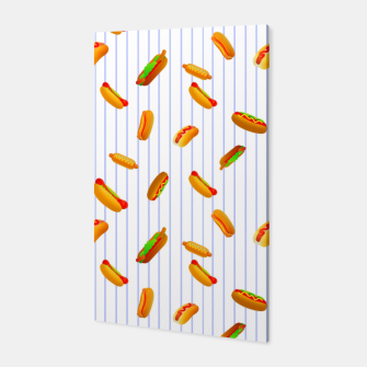 Thumbnail image of Hot Dogs Pattern  Canvas, Live Heroes