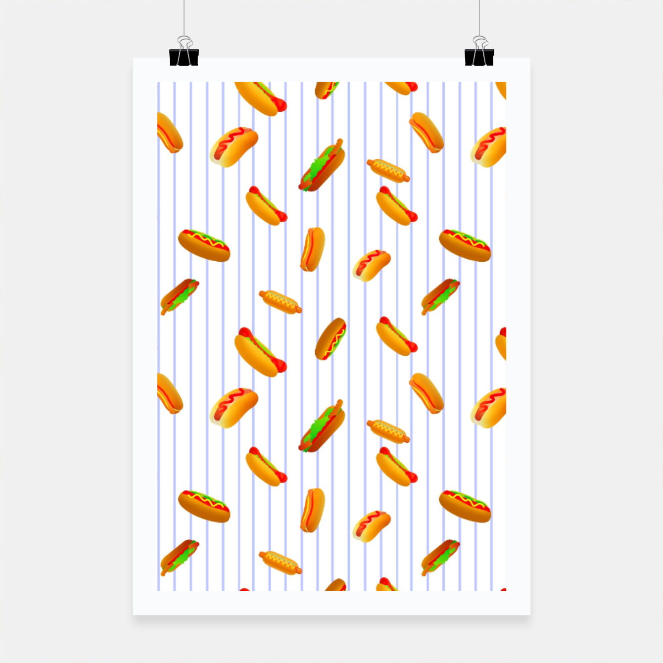 Image of Hot Dogs Pattern  Poster - Live Heroes