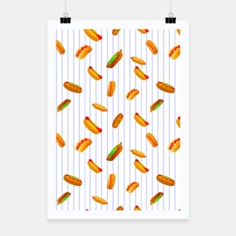 Thumbnail image of Hot Dogs Pattern  Poster, Live Heroes