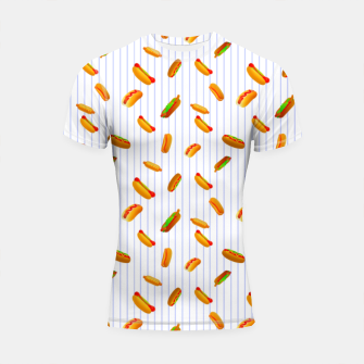 Thumbnail image of Hot Dogs Pattern  Shortsleeve rashguard, Live Heroes