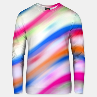 Vivid Colorful Wavy Abstract Print Unisex sweater obraz miniatury
