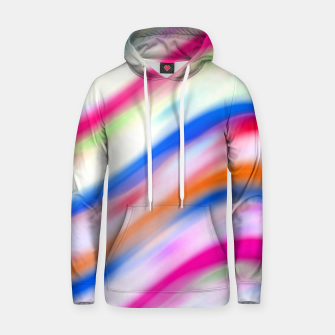Vivid Colorful Wavy Abstract Print Hoodie obraz miniatury