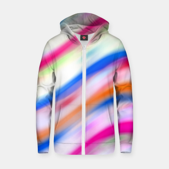 Vivid Colorful Wavy Abstract Print Zip up hoodie obraz miniatury