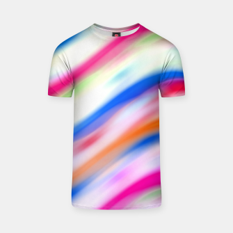 Miniaturka Vivid Colorful Wavy Abstract Print T-shirt, Live Heroes