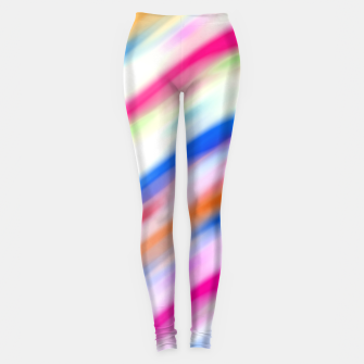 Miniaturka Vivid Colorful Wavy Abstract Print Leggings, Live Heroes