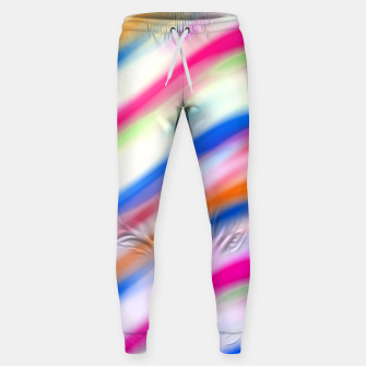 Thumbnail image of Vivid Colorful Wavy Abstract Print Sweatpants, Live Heroes