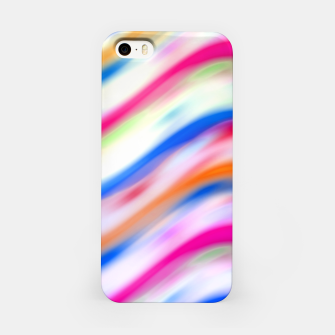 Vivid Colorful Wavy Abstract Print iPhone Case obraz miniatury