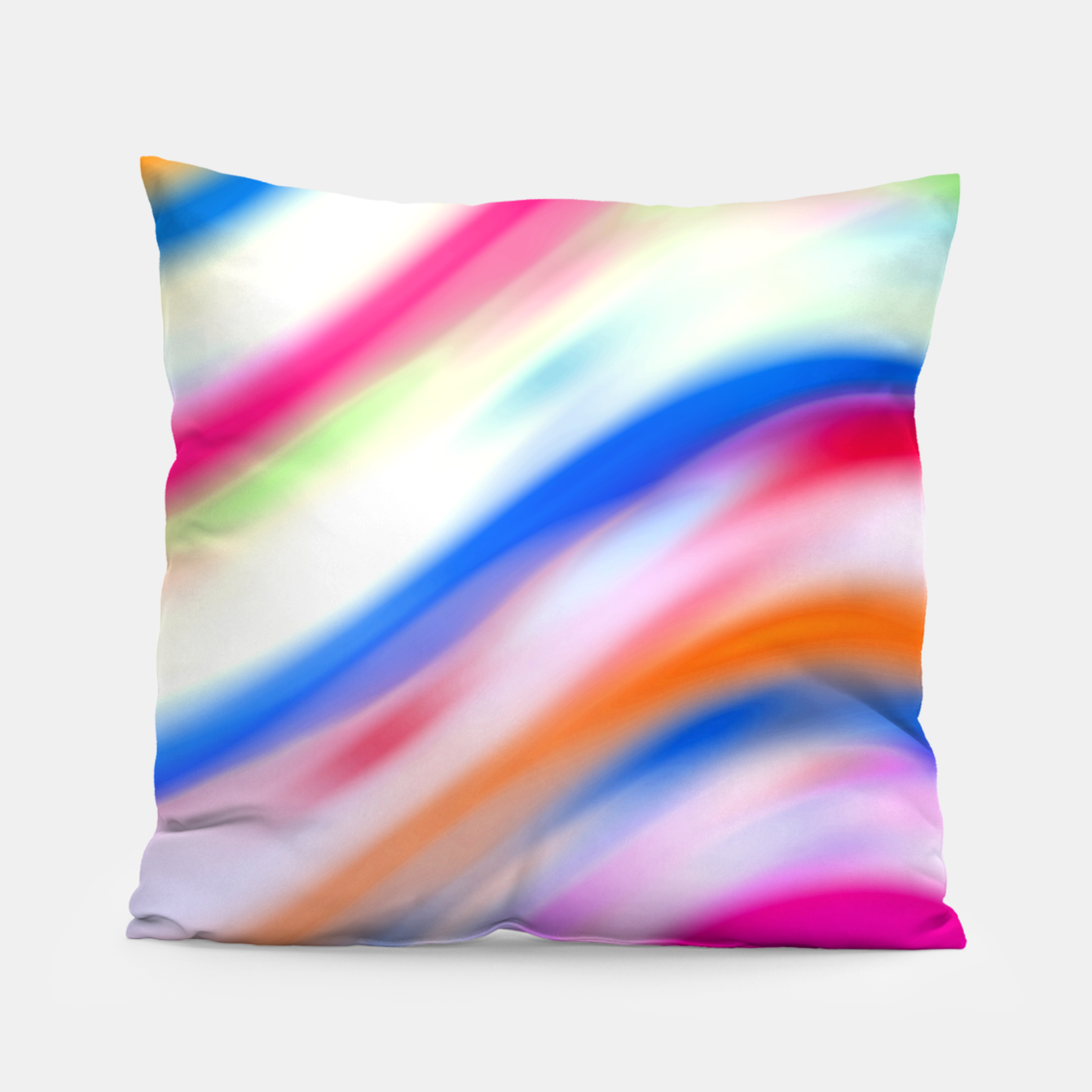 Zdjęcie Vivid Colorful Wavy Abstract Print Pillow - Live Heroes