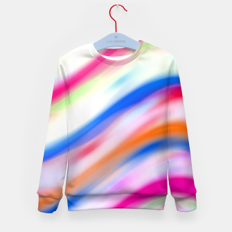 Vivid Colorful Wavy Abstract Print Kid's sweater obraz miniatury