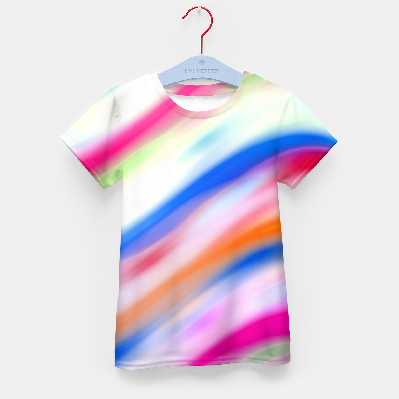 Zdjęcie Vivid Colorful Wavy Abstract Print Kid's t-shirt - Live Heroes