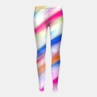 Miniaturka Vivid Colorful Wavy Abstract Print Girl's leggings, Live Heroes